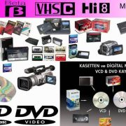 video kasetinden dvd ye çekilir